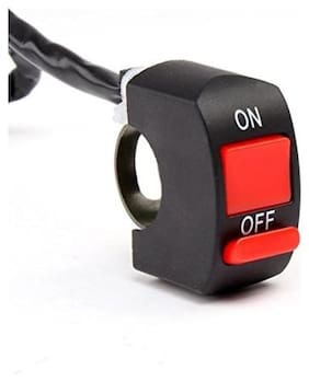 SCORIA Fog Light Switch For Car & Bikes fits 7/8 - 1 inch handle bar