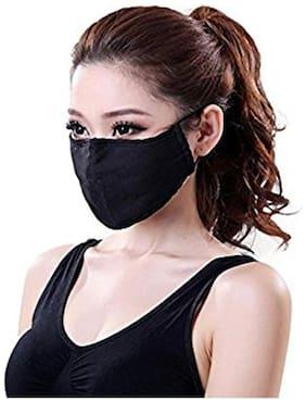 SCORIA Net Print Anti Dust Disposable Particulate Respirator Face Mask (Black;Free size)