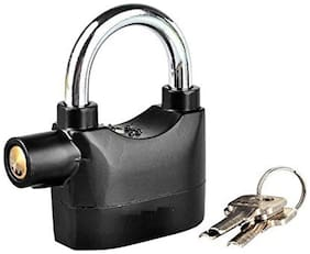 Security Alarm Lock SystemAnti-Theft for Door Motor Bicycle Padlock 110dB with 3 Keys (Black)