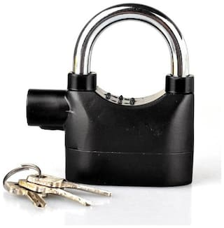 Security Electronic Alarm Lock For Home/Bike/Cars/Office Safety Lock  (Black)