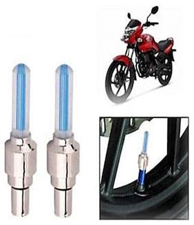 Set of 2 LED Wheel Light Conversion Bulb For All Type of Bikes (Assorted colour)