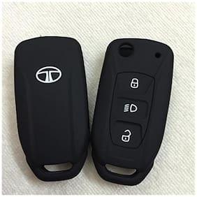 SFK Silicone Flip key Cover For Tata Safari Storme / Zest / Bolt / Tiago / Zica