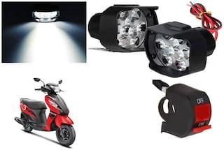 SHOP4U 9 LED Shilon Fog Light for Suzuki Let's ( Free on/off Switch )