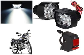 SHOP4U 9 LED Shilon Fog Light for Hero Splendor Pro ( Free on/off Switch )