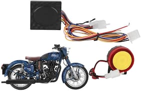 SHOP4U Anti-Theft Bike Alarm Kit With Remote for Royal Enfield Classic 350
