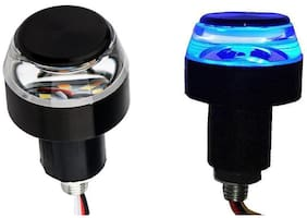 SHOP4U Bike Turn Signal LED Handle Bar Light for Hero HF Deluxe Eco ( White and Blue )