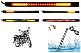 SHOP4U  Brake Stop Turn Signal 48 SMD Flexible LED Strip Tail Light for Hero Super Splendor