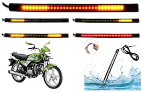 SHOP4U  Brake Stop Turn Signal 48 SMD Flexible LED Strip Tail Light for Hero HF Deluxe Eco