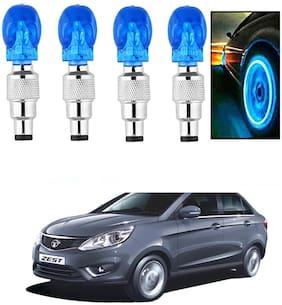 SHOP4U Car Skull Wheel/Tyre LED Light With Motion Sensor for tata zest ( Pack of 4;Blue )