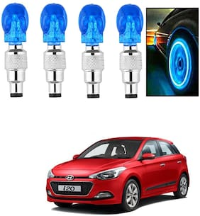 SHOP4U Car Skull Wheel/Tyre LED Light With Motion Sensor for hyundai I-20 ( Pack of 4;Blue )