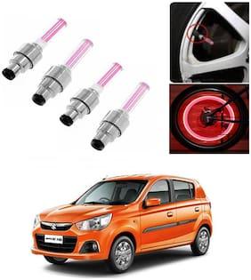 SHOP4U Car Skull Wheel/Tyre LED Light With Motion Sensor for maruti suzuki alto k-10 ( Pack of 4;Pink )