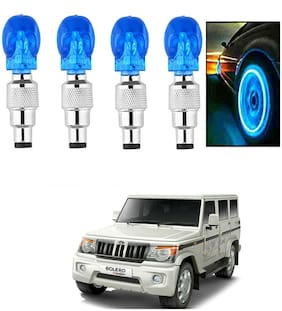 SHOP4U Car Skull Wheel/Tyre LED Light With Motion Sensor for mahindra bolero ( Pack of 4;Blue )
