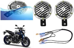 SHOP4U Chrome Horn with Relay and Wire for Yamaha MT 09 ( 12V;Chrome )