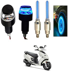 SHOP4U Handlebar Light With Wheel Light for Hero Dash (Multi)
