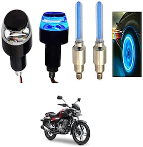 SHOP4U Handlebar Light With Wheel Light for Bajaj V15 (Multi)
