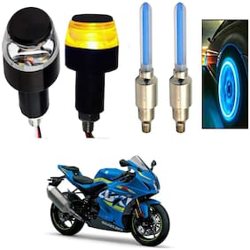SHOP4U Handlebar Light With Wheel Light for Suzuki GSX R1000 (Multi)