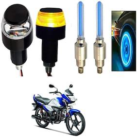 SHOP4U Handlebar Light With Wheel Light for Hero Splendor I Smart 110 (Multi)