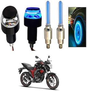 SHOP4U Handlebar Light With Wheel Light for Suzuki Gixxer (Multi)