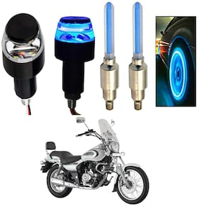 SHOP4U Handlebar Light With Wheel Light for Bajaj Avenger 220 (Multi)