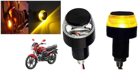 SHOP4U Handlebar LED Turn Signal Indicatorn Dual Bulb for Hero Passion Pro ( White and Yellow;2 PCs. )