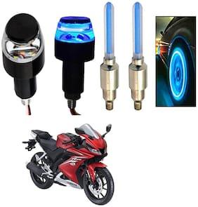SHOP4U Handlebar Light With Wheel Light for Yamaha YZF R15 V3 (Multi)