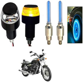 SHOP4U Handlebar Light With Wheel Light for Royal Enfield Thunderbird 350 (Multi)