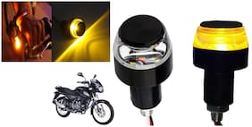 SHOP4U Handlebar LED Turn Signal Indicatorn Dual Bulb for Bajaj Pulsar 150 ( White and Yellow;2 PCs. )