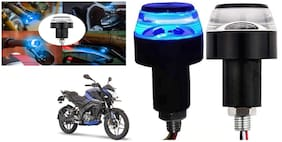 SHOP4U Handlebar LED Turn Signal Handelbar Dual Bulb for Bajaj Pulsar NS 160 ( White and Blue;2 PCs. )