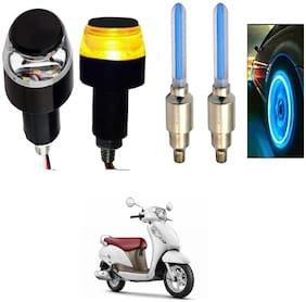 SHOP4U Handlebar Light With Wheel Light for Suzuki Access 125 (Multi)