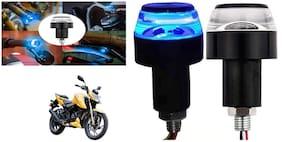 SHOP4U Handlebar LED Turn Signal Handelbar Dual Bulb for TVS Apache RTR 200 4V ( White and Blue;2 PCs. )