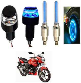 SHOP4U Handlebar Light With Wheel Light for TVS Apache RTR 160 (Multi)