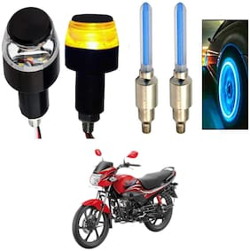 SHOP4U Handlebar Light With Wheel Light for Hero Passion Pro (Multi)