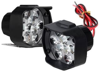 SHOP4U 9 LED BIke Fog Light For Royal Enfield Bullet 350
