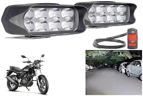 SHOP4U L21 Shilon 8 LED Fog Lamp Light for Hero XPulse 200T ( Free on/off Switch )