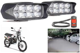 SHOP4U L21 Shilon 8 LED Fog Lamp Light for Hero Xpulse 200 BS6 ( Free on/off Switch )
