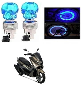 SHOP4U Skull Wheel/ Tyre Light With Motion Sensor for Yamaha N Max 155 (Blue, Pack of 2 )