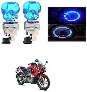 SHOP4U Skull Wheel/ Tyre Light With Motion Sensor for Bajaj Pulsar RS 200 (Blue, Pack of 2 )
