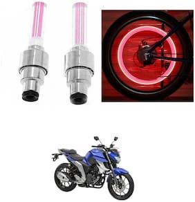 SHOP4U Wheel/ Tyre Light With Motion Sensor Yamaha FZ 25 ( Pink,Pack of 2 )