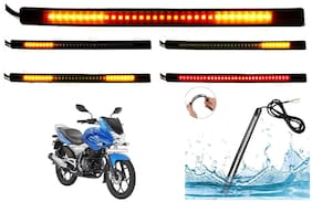 SHOP4U SMD Flexible LED Strip Tail Light Brake Light with Turn Indicator Signals for Bajaj Discover 150F