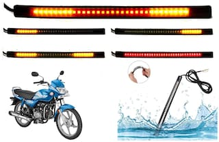 SHOP4U SMD Flexible LED Strip Tail Light Brake Light with Turn Indicator Signals for Hero HF Deluxe BS6