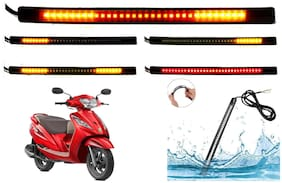 SHOP4U SMD Flexible LED Strip Tail Light Brake Light with Turn Indicator Signals for TVS Wego