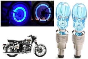 SHOP4U( Unbranded ) Bike Skull Tyre Blue LED With Motion Sensor Light for Royal Enfield Classic 350