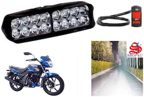 SHOP4U Waterproof 16 LED Fog Light Head Lamp for TVS Flame (Set of 1;Free On/Off Switch)