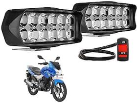SHOP4U Waterproof 12 LED Fog Light Head Lamp for Bajaj Discover 150F ( Set of 2;Free On/Off Switch)