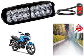 SHOP4U Waterproof 16 LED Fog Light Head Lamp for Hero Glamour (Set of 1;Free On/Off Switch)