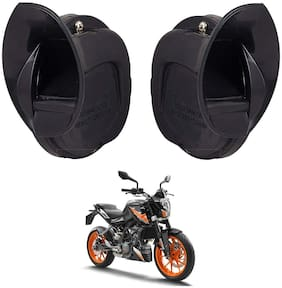 SHOP4U Windtone Skoda Type Horn for KTM Duke 200 ( Black, 12V Required )