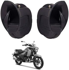 SHOP4U Windtone Skoda Type Horn for Suzuki  Intruder 150 ( Black, 12V Required )