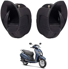 SHOP4U Windtone Skoda Type Horn for Honda Activa 125 ( Black, 12V Required )