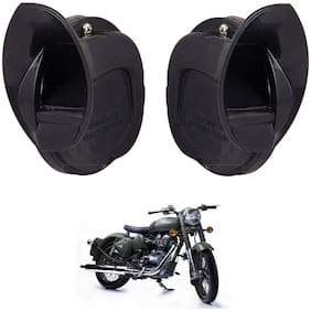 SHOP4U Windtone Skoda Type Horn for Royal Enfield Classic 500 ( Black, 12V Required )