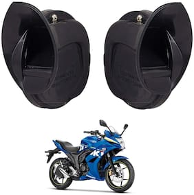 SHOP4U Windtone Skoda Type Horn for Suzuki  Gixxer 250 ( Black, 12V Required )